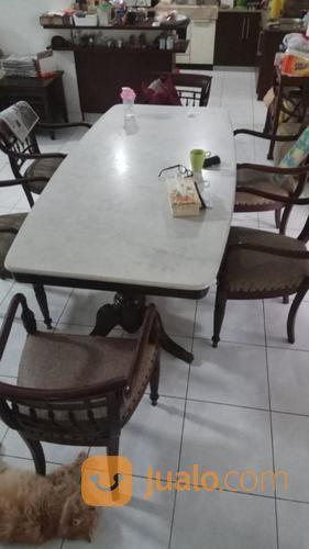 Meja makan marmer ne kebutuhan rumah tangga furniture 21353943