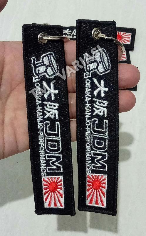 Gantungan Kunci Key Chain Key Ring Luggage Tag JDM Osaka Hitam