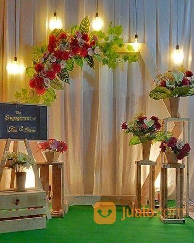Dekorasi Pernikahan Termurah Jawa Tunangan Rustic Murah Jogja Sleman Magelang