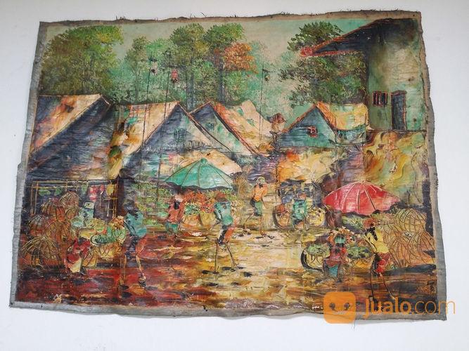 Lukisan canvas motif hobi seni 22209487