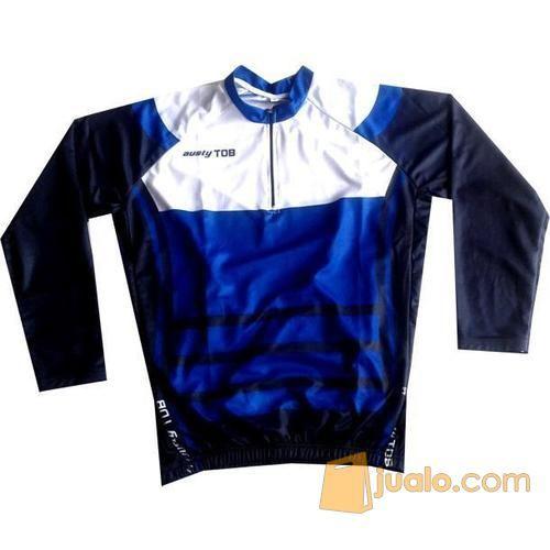 Jersey Sepeda MTB Polos Trex Jumper Biru Ada kantong