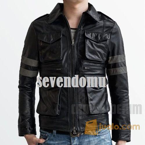 Jaket kulit resident mode gaya pria 3977573