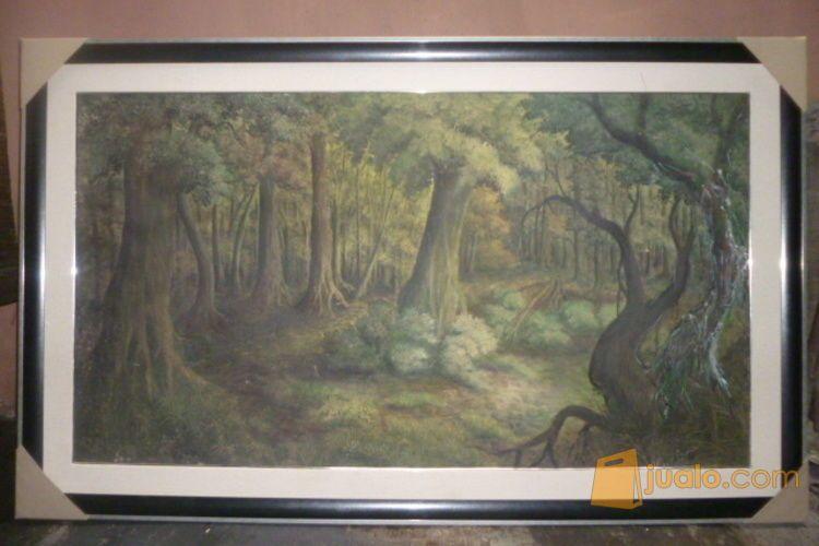 Lukisan Pemandangan Hutan Karya Kurnia 2002 Bandung Jualo