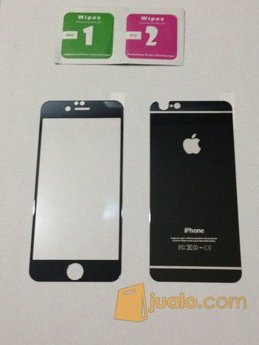 Iphone 6 E >> Iphone 6 6s Black Electroplate Mirror Premium Tempered Glass