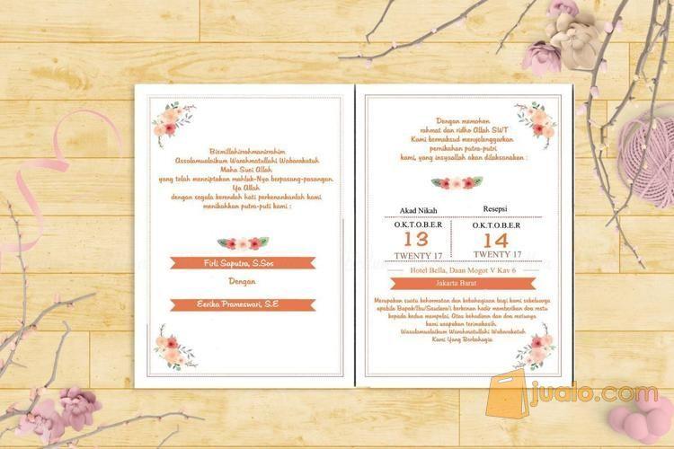Surat Undangan Pernikahan Soft Cover Wedding Invitation Full Colour