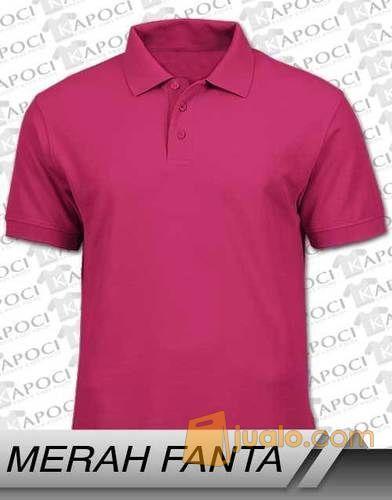 Kaos polos polo shir mode gaya pria 8684359