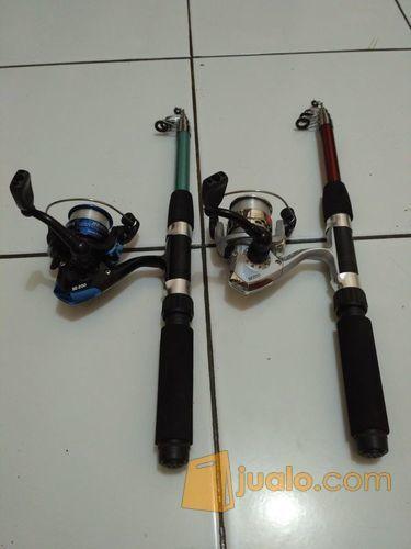 Pancing 2 set/set alat pancing 150cm, plus bonus