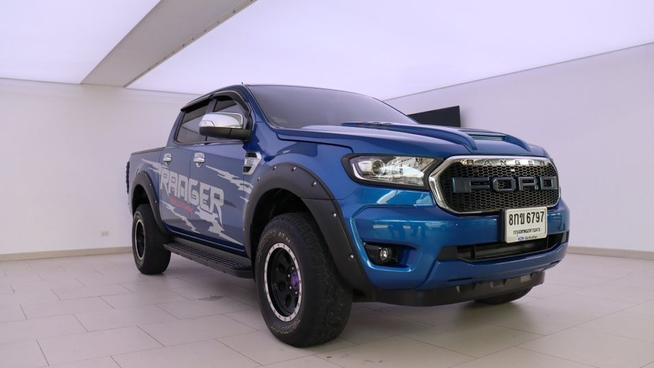 FORD RANGER 2.2 XLT DOUBLE CAB HI-RIDER 2018 น้ำเงิน